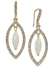 I.N.C. Gold-Tone Stone & Pavé Orbital Drop Earrings, Created for Macy's