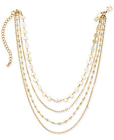 "I.N.C. Gold-Tone Multi-Layer Choker Necklace, 12"" + 3"" extender, Created for Macy's"