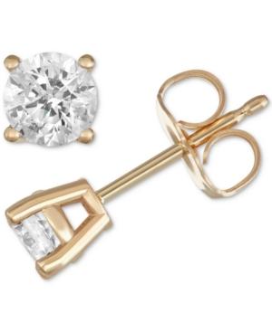 8b4e97539 macy's gold ball stud earrings (6mm) in 14k yellow, white | Price ...