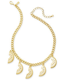 "I.N.C. Gold-Tone Watermelon Statement Necklace, 18"" + 3"" extender, Created for Macy's"
