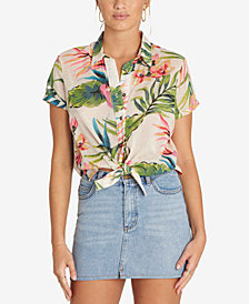 Billabong Juniors' Cotton Cropped Shirt