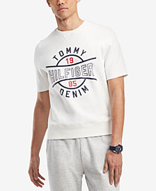 Tommy Hilfiger Men's Vince Logo Short-Sleeve Sweatshirt, Created for Macy's
