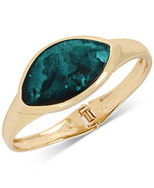 Robert Lee Morris Soho Gold-Tone & Patina Bangle Bracelet