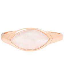 Robert Lee Morris Soho Rose Gold-Tone Mother-of-Pearl-Look Stone Bangle Bracelet