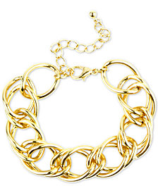 Charter Club Gold-Tone Open Link Bracelet, Created for Macy's