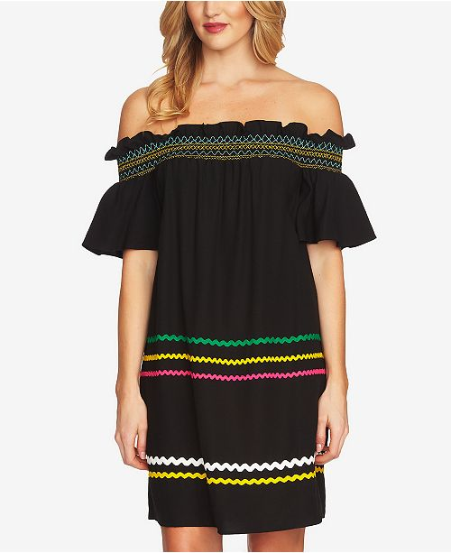 0b050f4ae49a0 CeCe Off-The-Shoulder Ric-Rac Dress   Reviews - Dresses - Women - Macy s