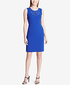 Calvin Klein Cutout-Yoke Sheath Dress