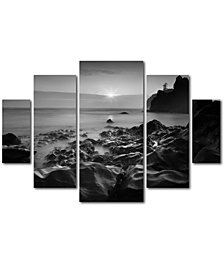Moises Levy 'Sunset At Ruby Beach' Multi-Panel Wall Art Set