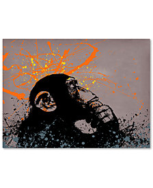 "Banksy 'The Thinker' 35"" x 47"" Canvas Wall Art"