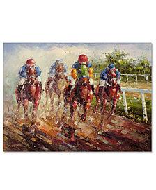 "Rio 'Kentucky Derby' 35"" x 47"" Canvas Art Print"