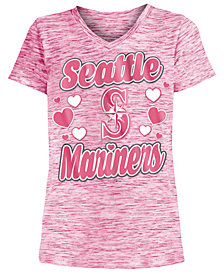 5th & Ocean Seattle Mariners Spacedye T-Shirt, Girls (4-16)