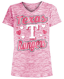 5th & Ocean Texas Rangers Spacedye T-Shirt, Girls (4-16)