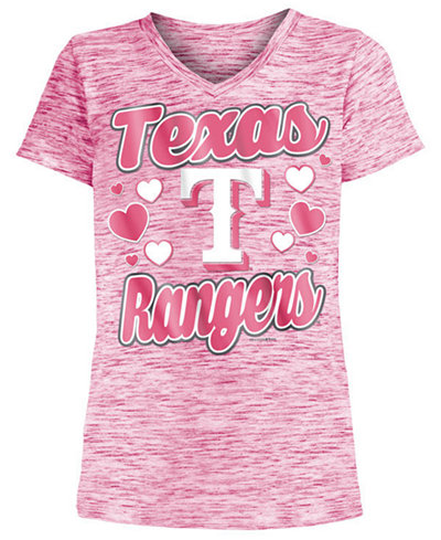 5th & Ocean Texas Rangers Spacedye T-Shirt, Girls (4-16)