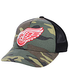 adidas Detroit Red Wings Camo Trucker Cap