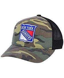 adidas New York Rangers Camo Trucker Cap