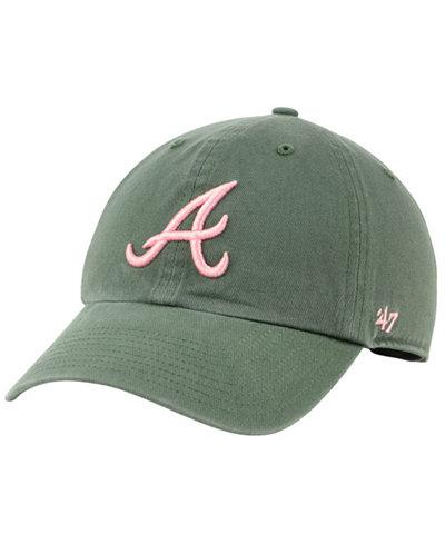 '47 Brand Atlanta Braves Moss Pink CLEAN UP Cap