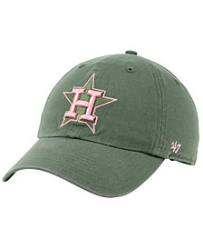'47 Brand Houston Astros Moss Pink CLEAN UP Cap