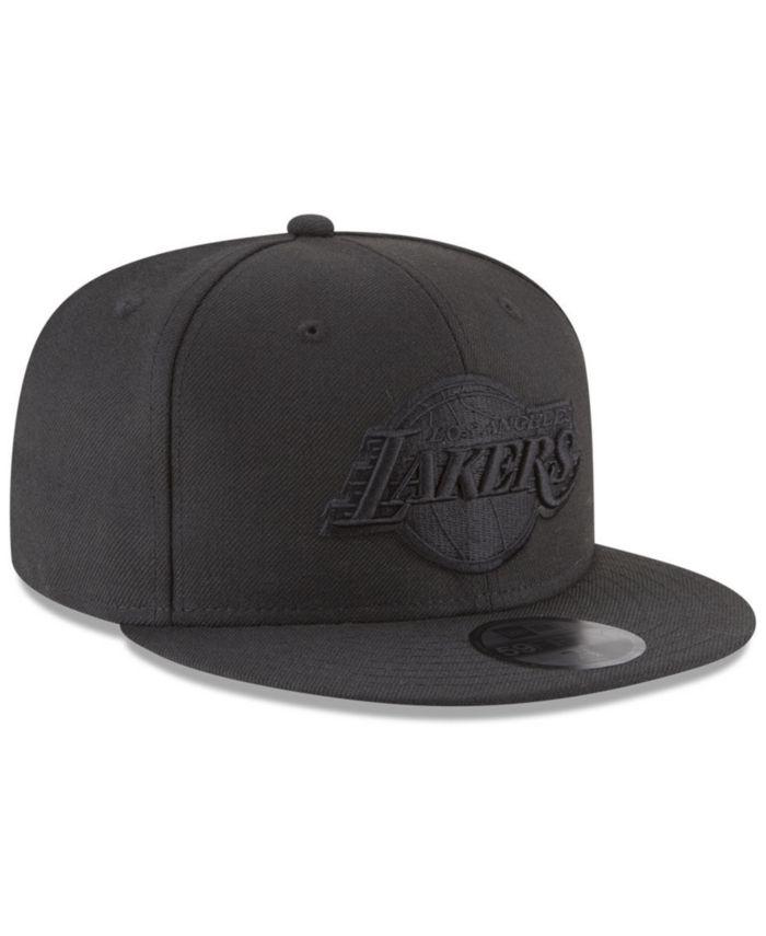 New Era Los Angeles Lakers Blackout 59FIFTY Fitted Cap & Reviews - Sports Fan Shop By Lids - Men - Macy's
