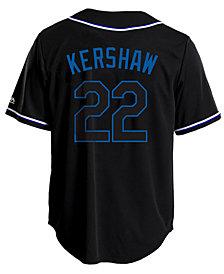 Majestic Men's Clayton Kershaw Los Angeles Dodgers Pitch Black Jersey