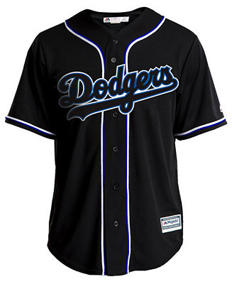Men's Los Angeles Dodgers Pitch Black Jersey by General