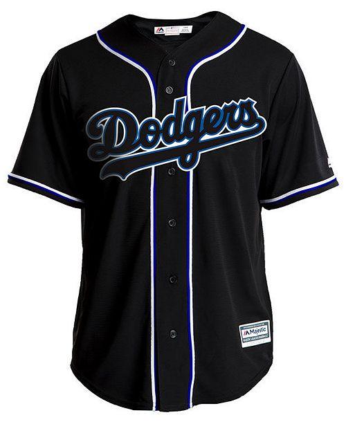 Majestic Men s Los Angeles Dodgers Pitch Black Jersey - Sports Fan ... cb77556d38c