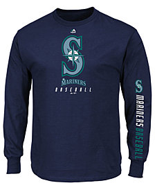 Majestic Men's Seattle Mariners Game Supreme Long Sleeve T-Shirt