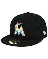 059d9f5d0ffe6 New Era Miami Marlins Authentic Collection 59FIFTY Fitted Cap