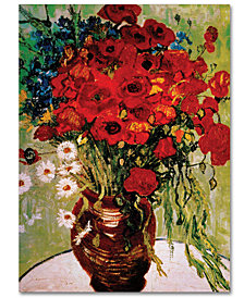 "Vincent van Gogh 'Vase with Daisies and Poppies' 35"" x 47"" Canvas Art Print"