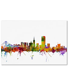"Michael Tompsett 'San Francisco City Skyline' 16"" x 24"" Canvas Wall Art"