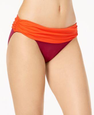 Colorblocked Hipster Bikini Bottoms