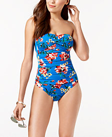 Lauren Ralph Lauren Havana Printed Twist Front Underwire Tummy-Control One-Piece Swimsuit