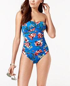 Lauren Ralph Lauren Havana Printed Twist Front Underwire Tummy-Control One-Piece Swimsuit