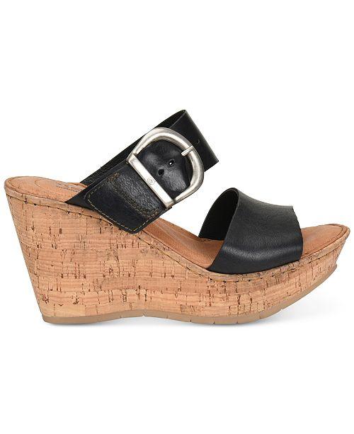 6e769818fac Born Emmy Wedge Sandals   Reviews - Sandals   Flip Flops - Shoes ...