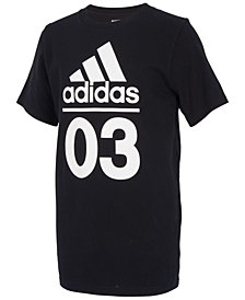 adidas Big Boys Graphic-Print Cotton T-Shirt