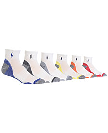Polo Ralph Lauren Men's 6-Pk. Athletic Quarter Socks