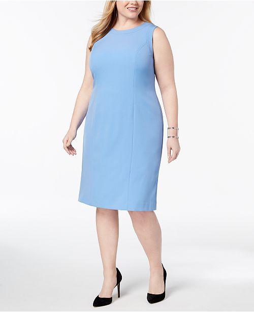 50707bfab5 Kasper Plus Size Stretch Crepe Sheath Dress   Reviews - Dresses ...