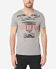 Buffalo David Bitton Men's Tufil Graphic-Print V-Neck T-Shirt