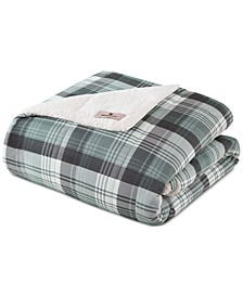 Plaid Down-Alternative Sherpa Throws