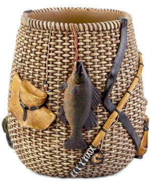 Avanti Rather Be Fishing HandPainted Wastebasket Bedding