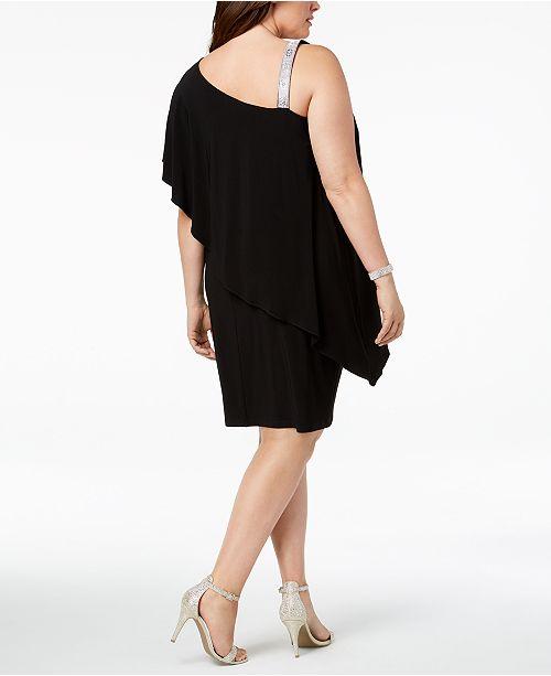 Msk Plus Size Draped One Shoulder Dress Dresses Women Macys