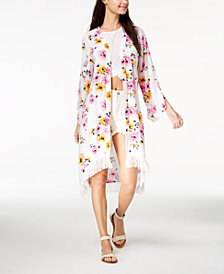 The Edit By Seventeen Juniors' High-Low Kimono, Created for Macy's