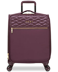 "DKNY Allure 21"" Quilted Softside Carry-On Spinner Suitcase"