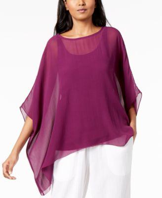 Silk Asymmetrical Top
