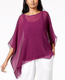 Eileen Fisher Silk Asymmetrical Top