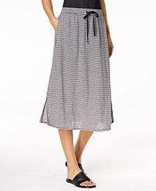 Eileen Fisher Organic Linen A-Line Skirt