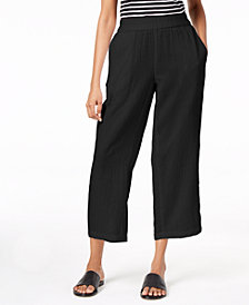 Eileen Fisher Organic Cotton Straight-Leg Pants, Regular & Petite
