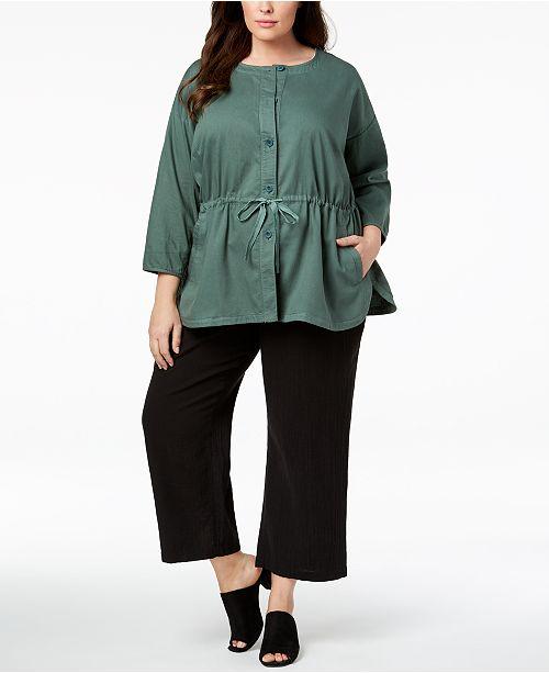 49b7751c00bca Eileen Fisher Plus Size Organic Cotton Jacket   Reviews - Jackets ...