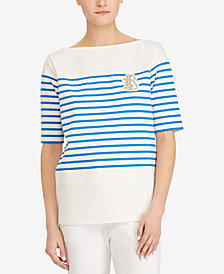Lauren Ralph Lauren Petite Striped Cotton T-Shirt