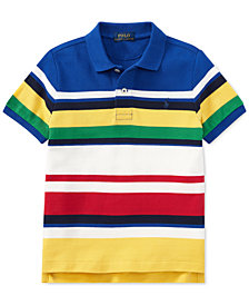Polo Ralph Lauren Toddler Boys CP-93 Striped Cotton Mesh Polo Shirt