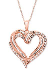 "Diamond Heart Pendant 18"" Necklace (1/2 ct. t.w.)"